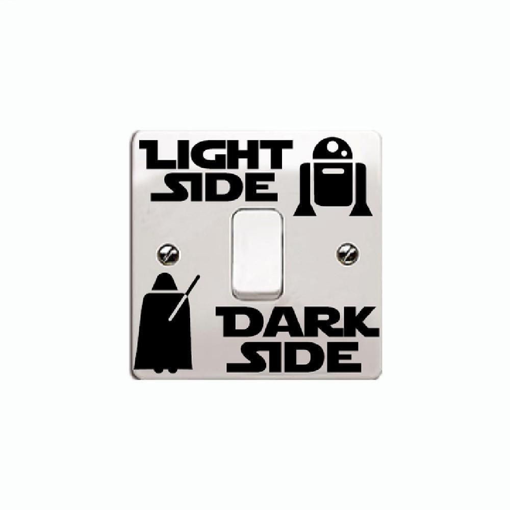 Personalized Wall Decal Dark Side Light Switch Sticker DIY Vinyl Home Decor