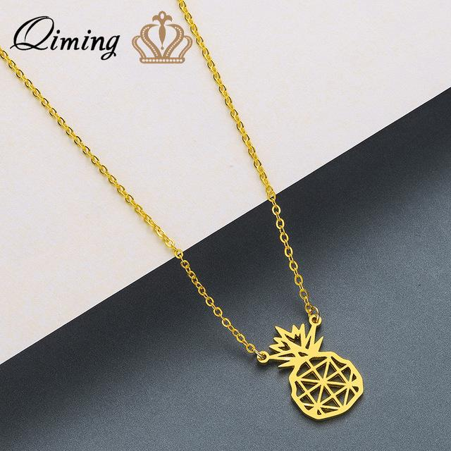 Stainless clavicle chain necklace