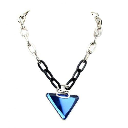 Punk Style Triangle Shape Pendant Necklace For Women