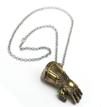 Abdominal glove hand necklace
