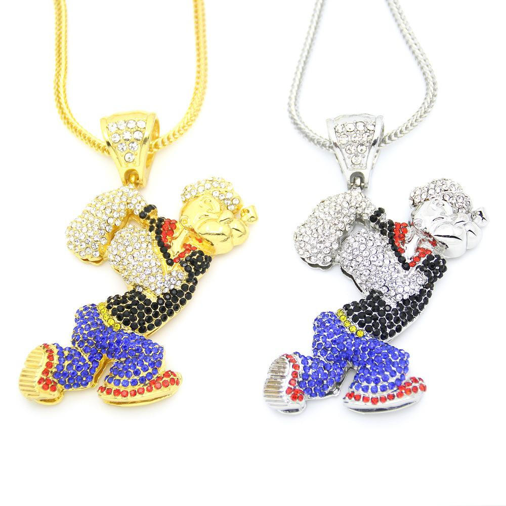 High quality environmental protection plating European and American hip hop necklace Game theme collection fan cartoon cartoon pendant necklace