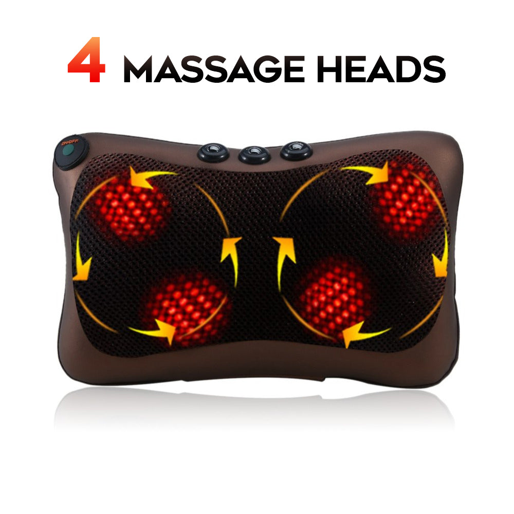 Head & Neck Shiatsu Massage Pillow For Car And Home