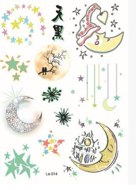 Waterproof luminous tattoo sticker