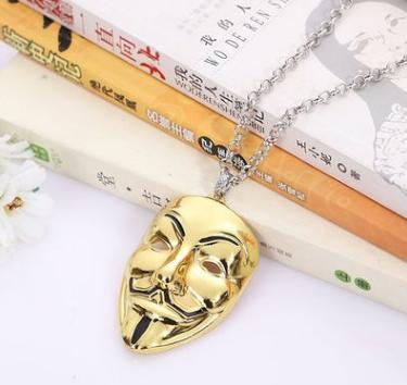New Punk Mask Plug Necklace