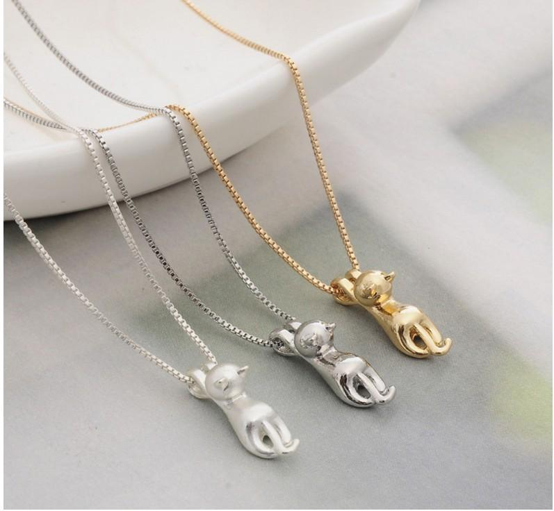 Cute Cat Jewelry Set - Ring - Ear Rings - Necklace