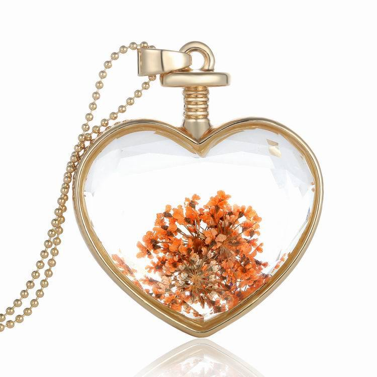 Thanksgiving Gift Dried Flower Specimen Necklace
