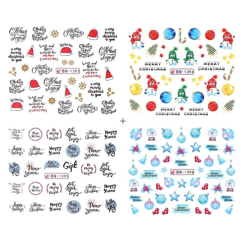 Transfer Watermark Nail Stickers for Christmas Nail Decals DIY Nail Art Decorations for Women & Kids