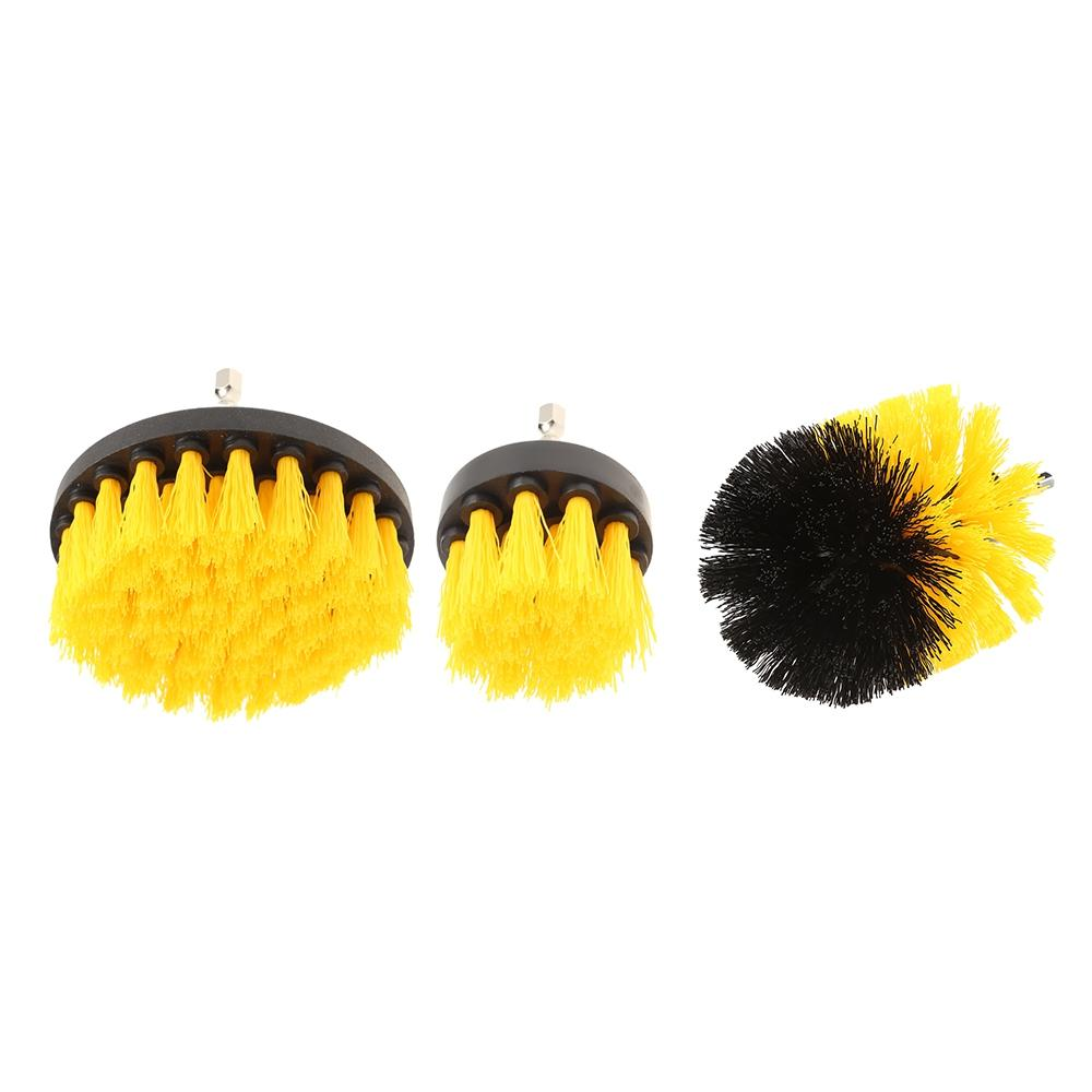 3PCS Electric Drill Cleaning Nylon Brush