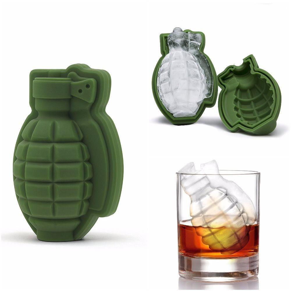 Grenade Ice Cube Molds