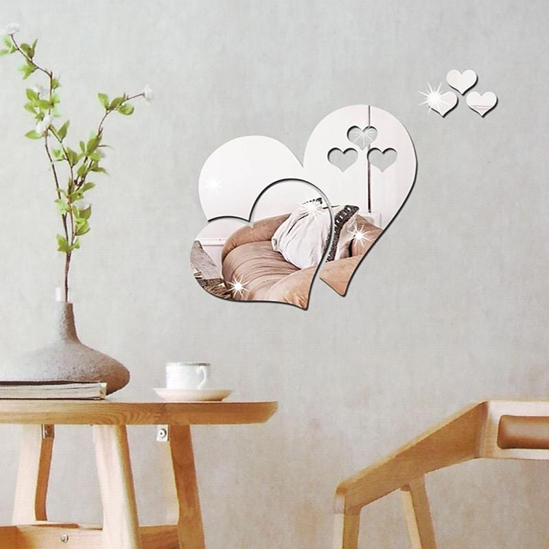 Three-dimensional Stereoscopic Heart-Shaped Wall Decal Sticker