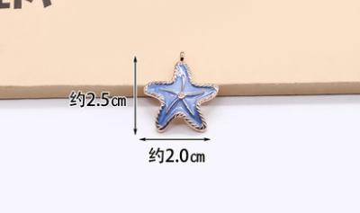 22MM starfish shell alloy drop oil pendant jewelry earrings earrings