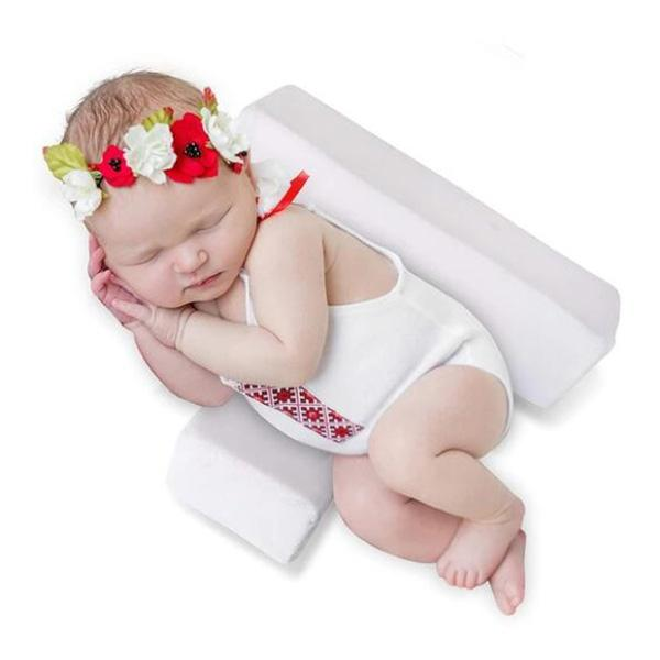 Baby Sleep Pillow Head Side Support Shaped Removable Washable Pad