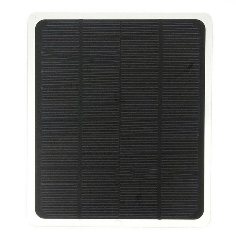 20W Solar Panel 12V / 5V Battery Charger For RV Boat Car Home Clip