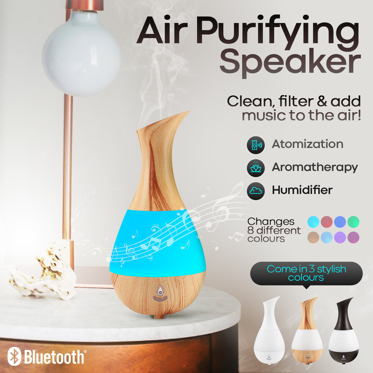 Air Purifying Bluetooth Speaker