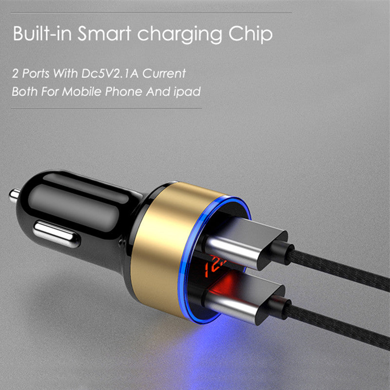 Car Charger USB Converter With LED Display
