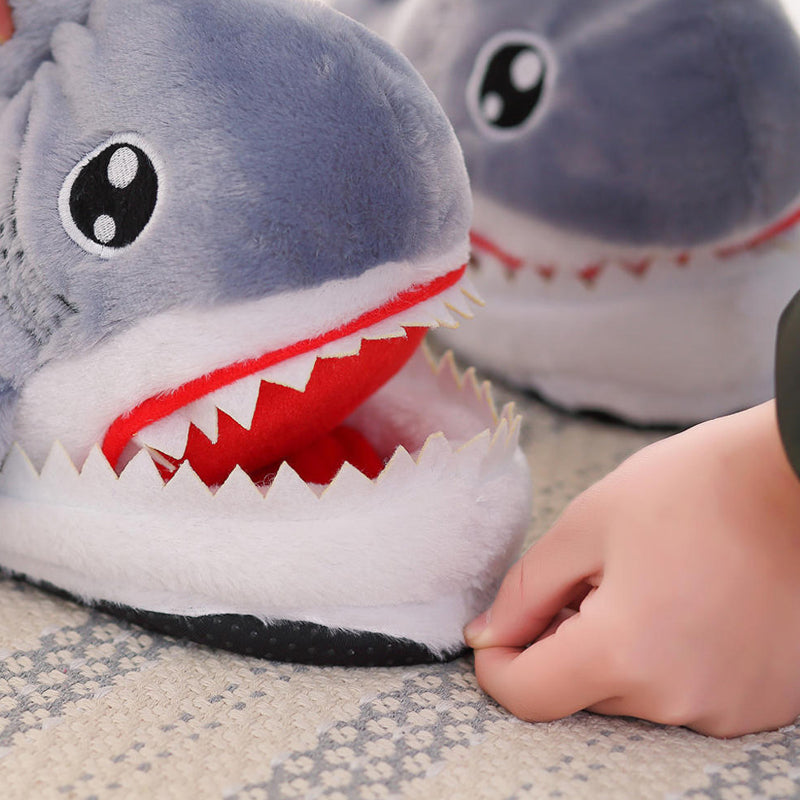 Cotton Shark Slippers