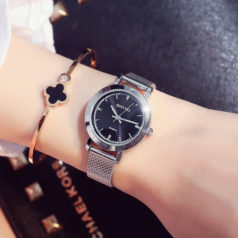 Steel Silver Quartz Bracelet Watch