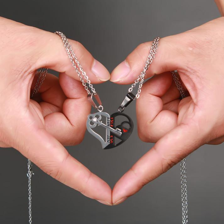 Heart & Key Necklace Pendant