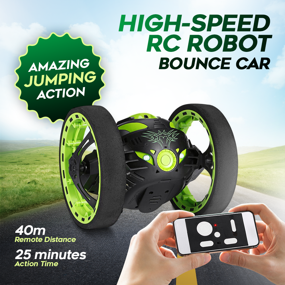 High-Speed RC Robot Bounce Car