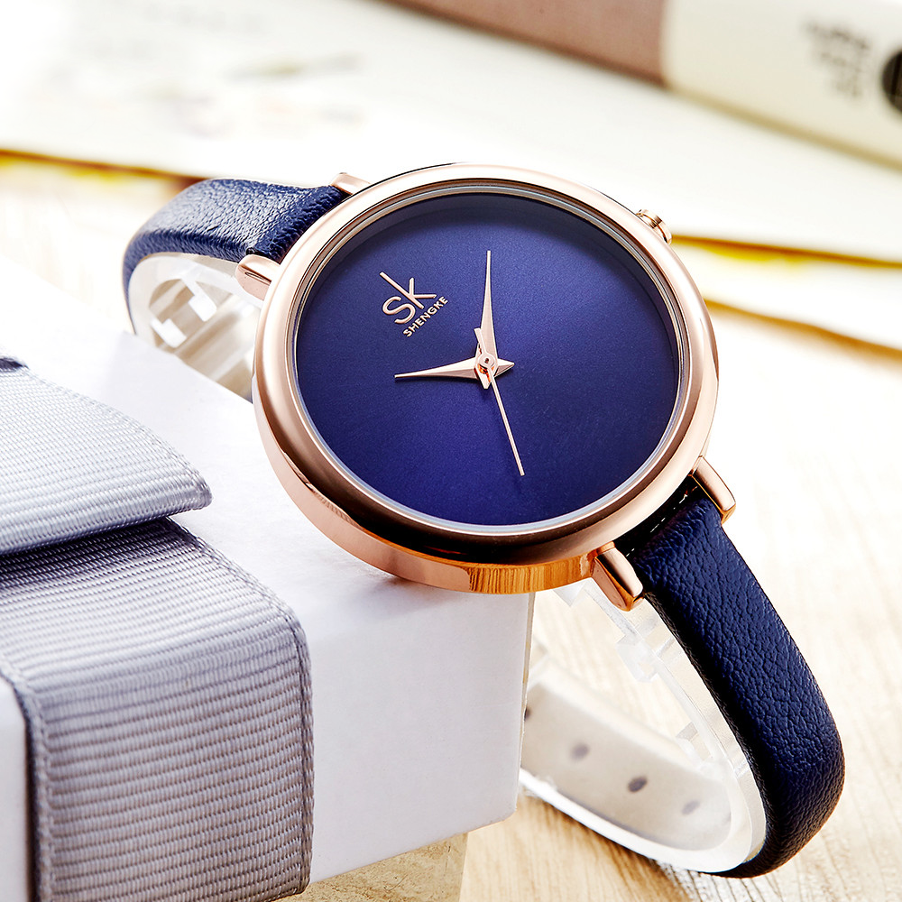 Ladies Leather Business Wristwatch