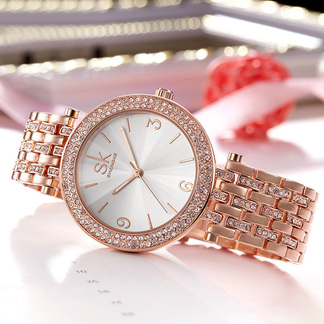 Ladies Luxury Pearl Dial Wristwatches