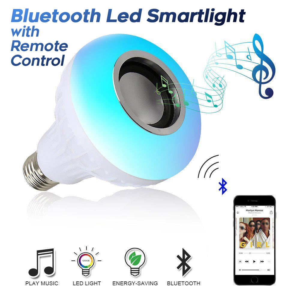 Smart LED Speaker Light Bulb
