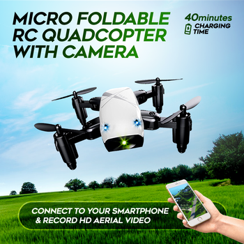 Micro Foldable RC Quadcopter With Camera