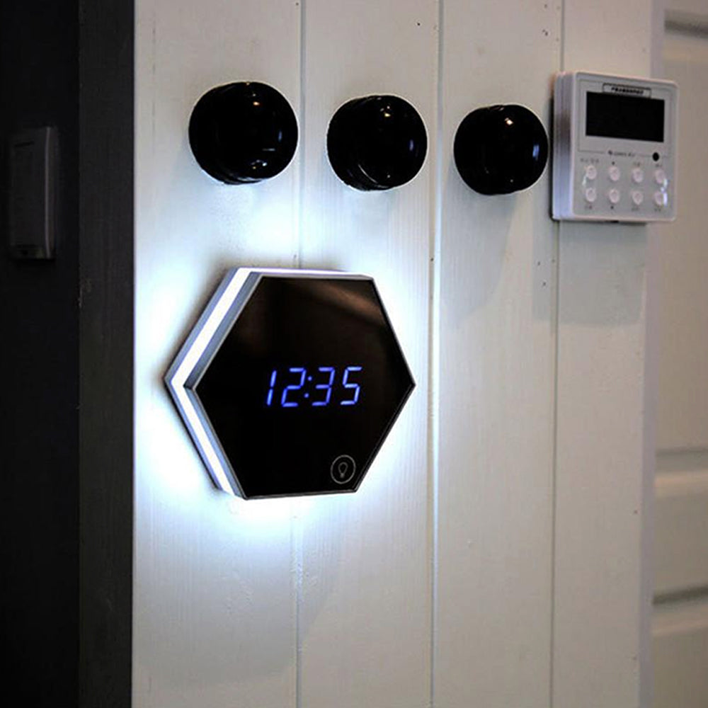 Mirror LED Abram Clock