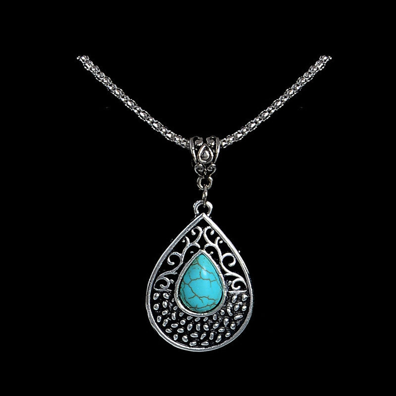Natural Stone Long Necklace Pendant Collection