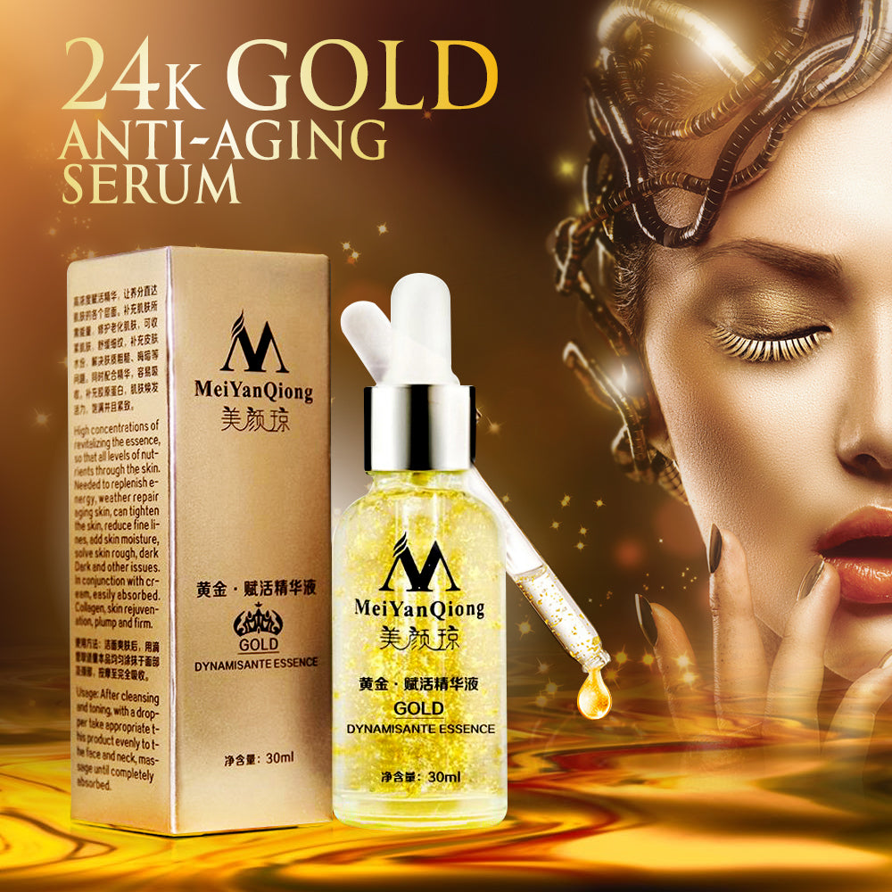 Pure 24K Gold Essence Anti-wrinkle Anti-aging Face Care