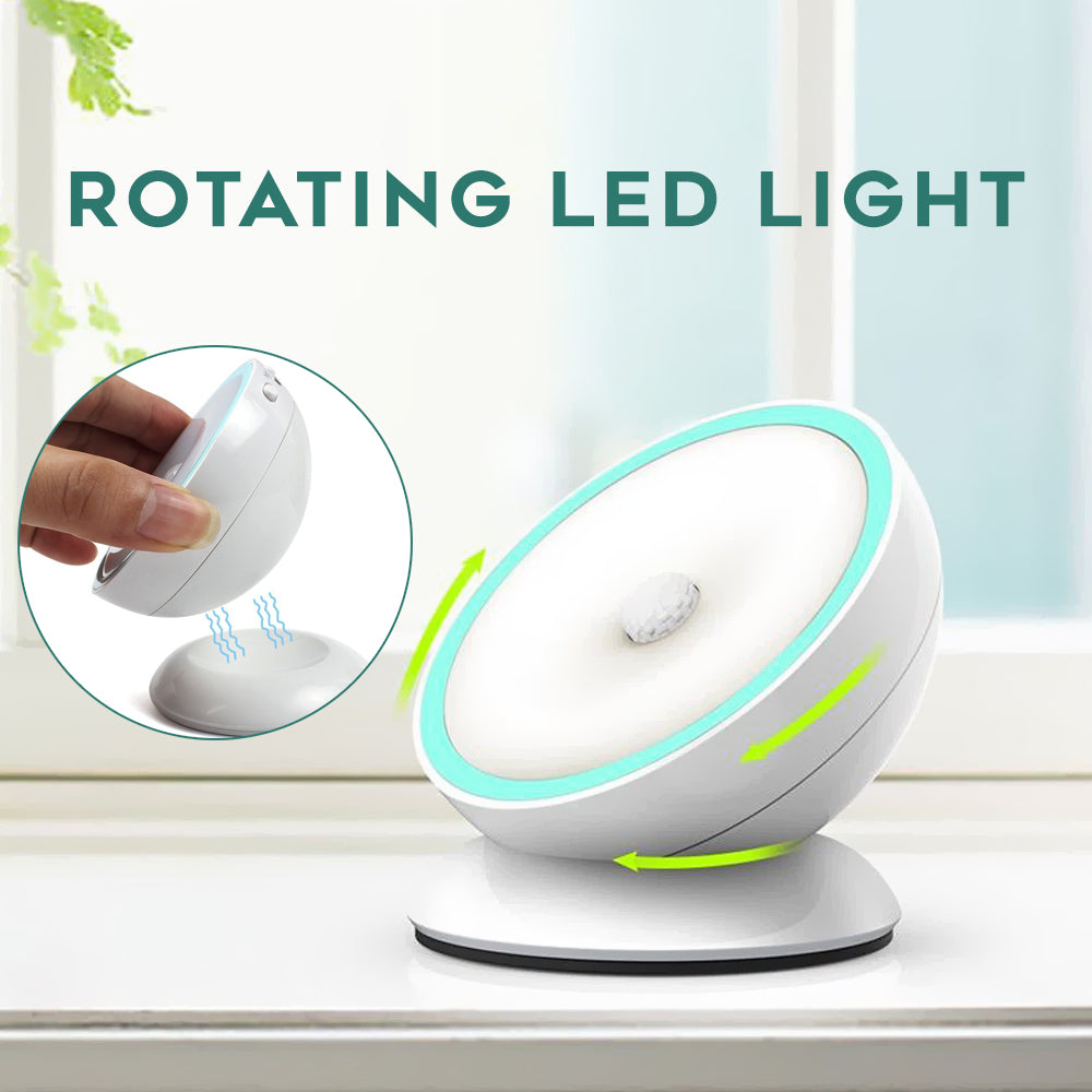 Motion Sensor Rotating LED Light