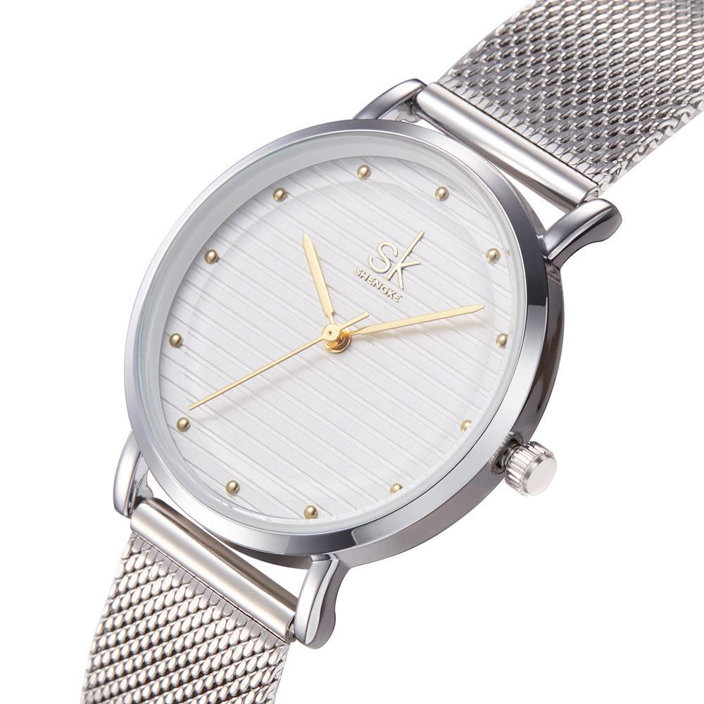Steel Band Lady's Quartz Dress Watch