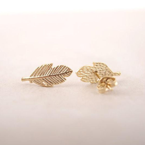Small Leaf Stud Earrings