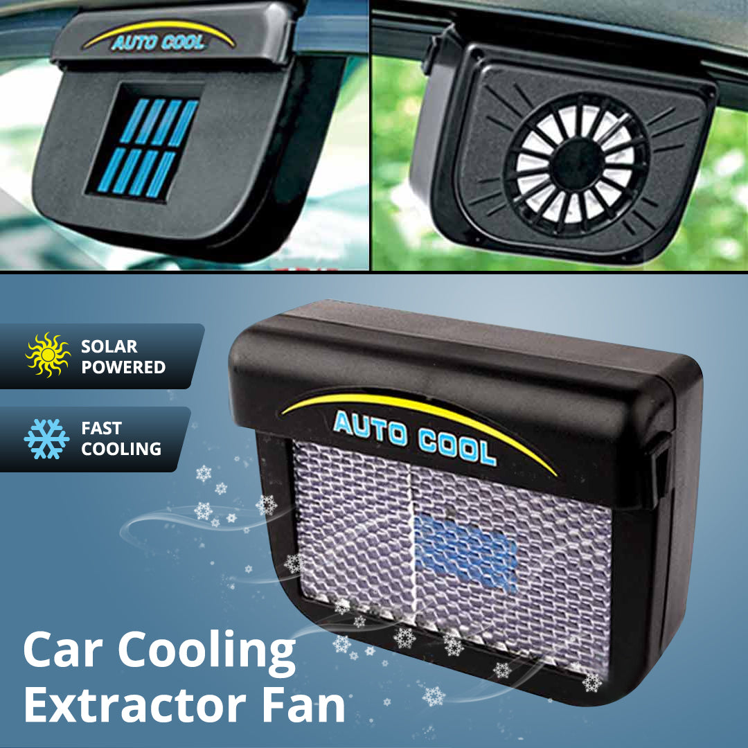 Solar Powered Car Cooling Extractor Fan Auto Cool
