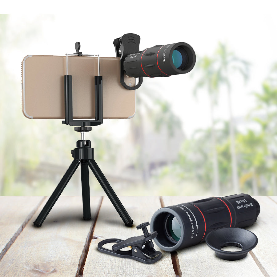 Telescopic Zoom Lens For Any Smartphone Camera
