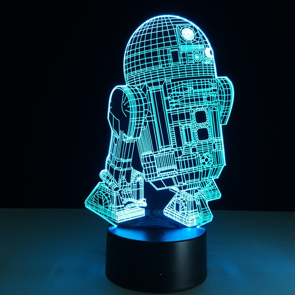 Star Wars 3D LED R2-D2 Lamp