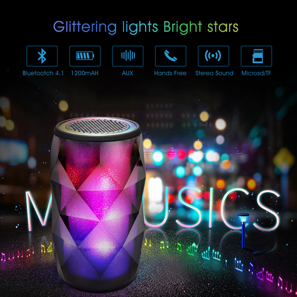 LED Touch Control Colorful Night Light Portable Bluetooth Speaker