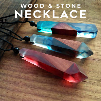 Wood and Stone Necklace