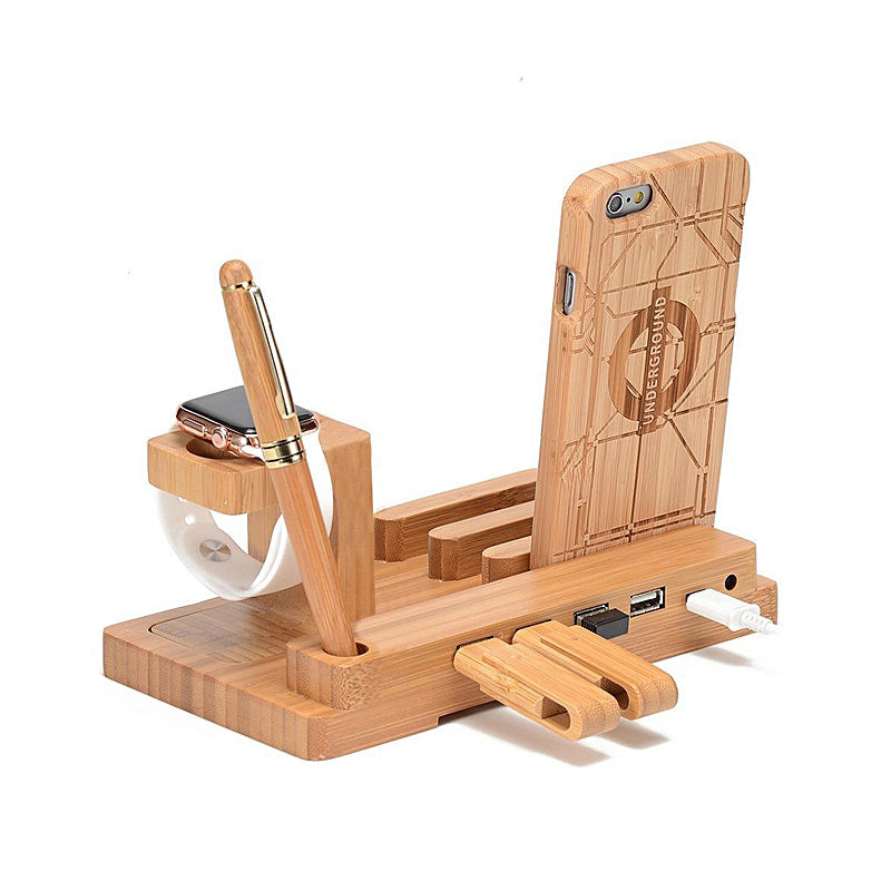 Wooden Phone Charging Rack