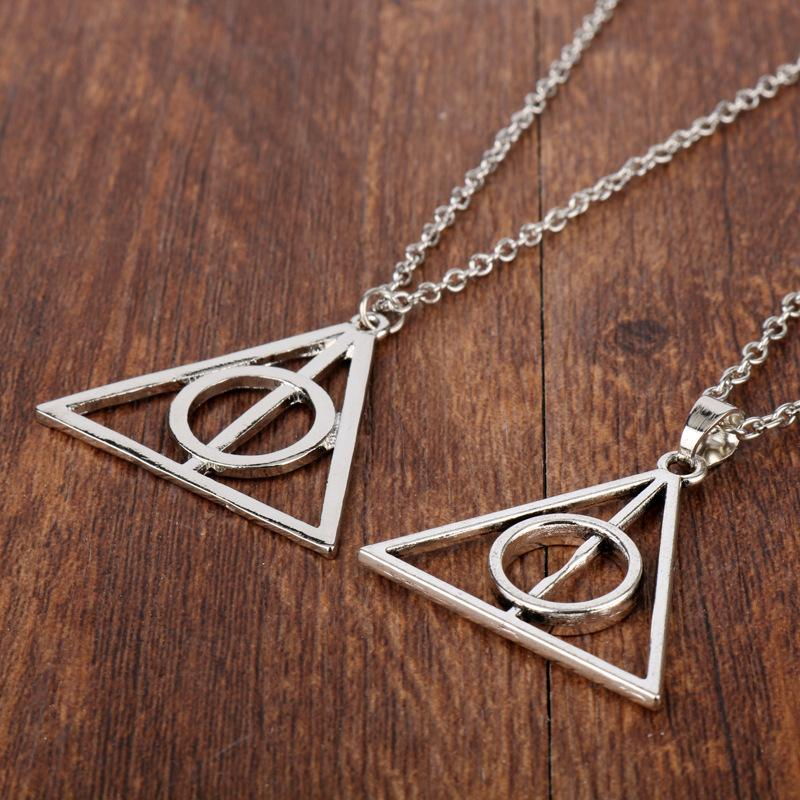 Harry potter luna deathly hallows triangle necklace