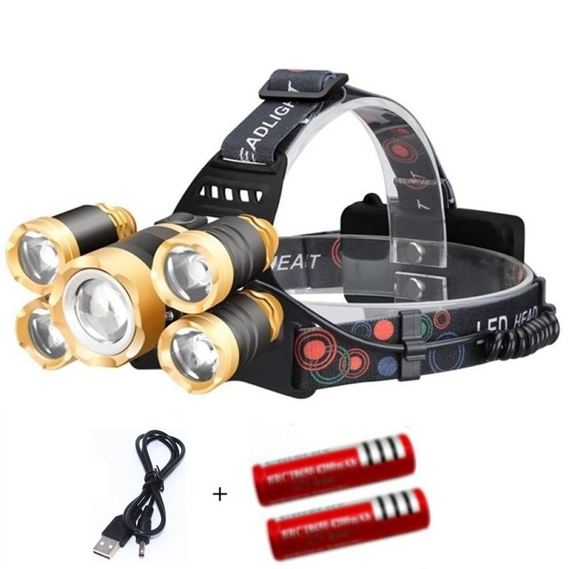LED T6 Headlamp 20000 Lumens 4 mode Zoomable  Rechargeable for Camping Hunting