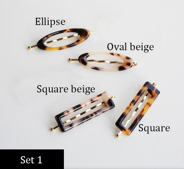 South Korea's Dongdaemun direct delivery Personality minimalist small and versatile  leopard pattern side clips Hairpin word clip