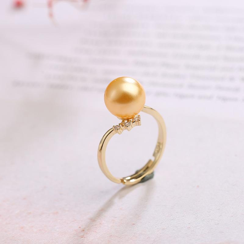 Natural beaded tail ring