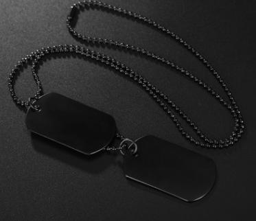 Glossy military US big soldier brand personality necklace