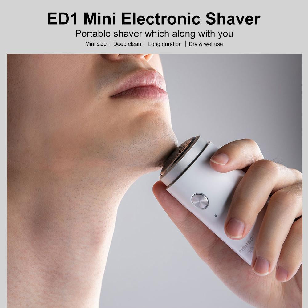 SO WHITE ED1 Mini Pocket Deep Clean Long Duration Waterproof Electric Shaver