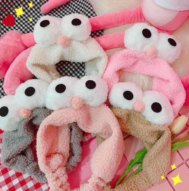 Soft sheep lamb big eyes wash face hair band