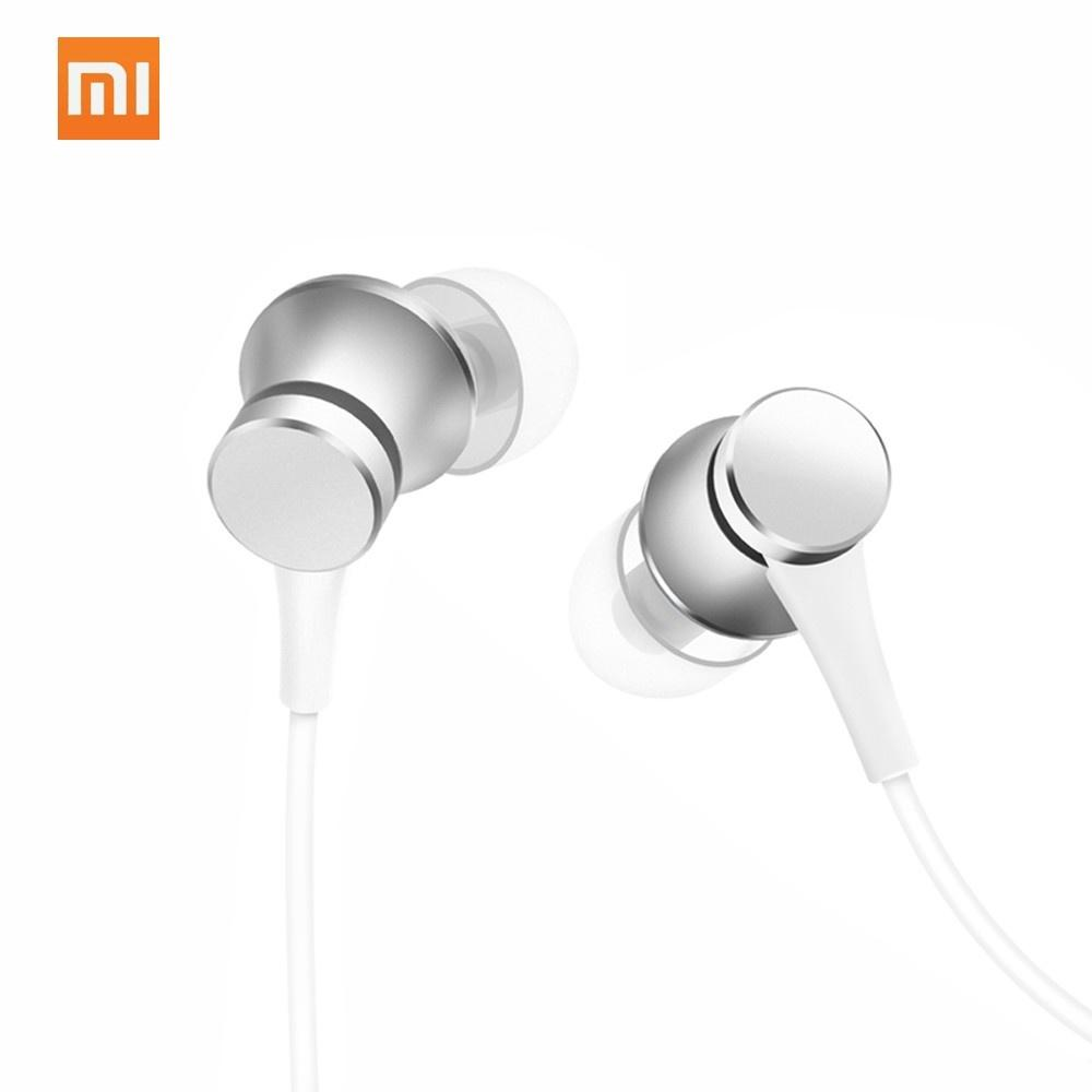 Original Xiaomi In-Ear Earphones Fresh Version 3.5mm Plug Balance Damping System Earbuds Built-in Microphone Answering Calls Headset for Smartphone