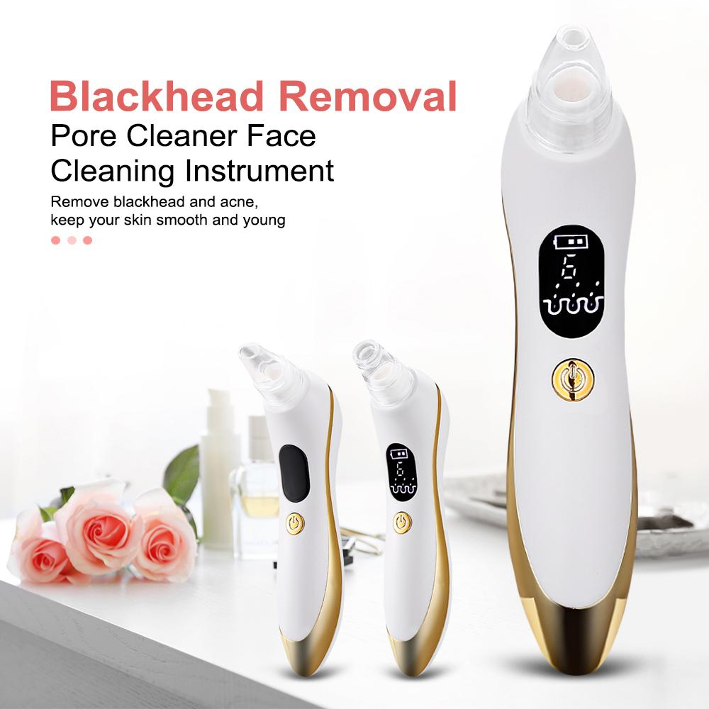 810 Electric Blackhead Remover with 6 Replaceable Probes Skin Care Pore Cleaner