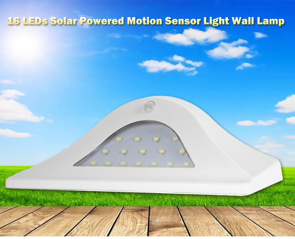 16 LEDs Solar Powered Motion Sensor Light