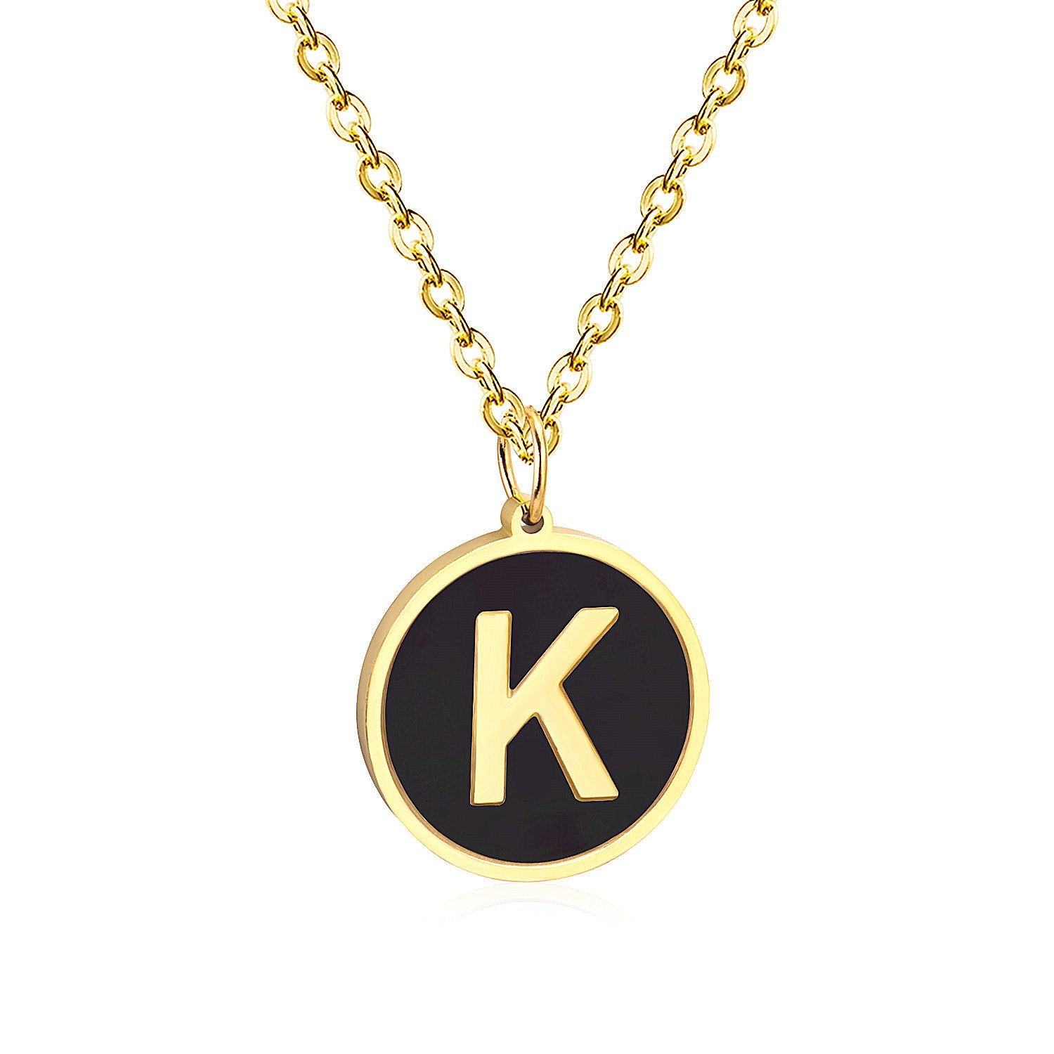 Golden English alphabet pendant